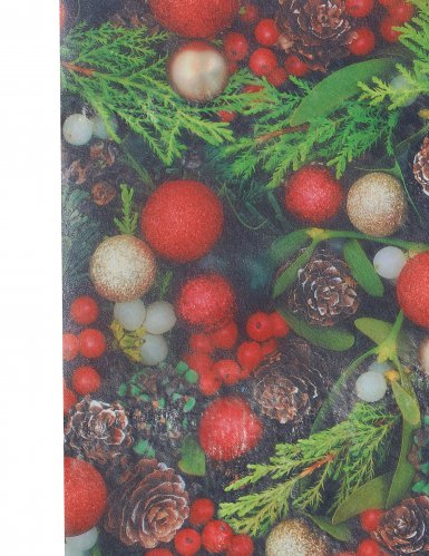 Chemin de table en tissu Houx de Noël 30 cm x 5 m-1