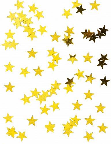 Confettis étoiles métallisés or 50g