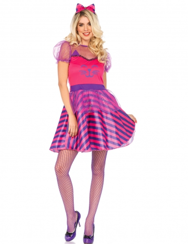 Déguisement Miss Cheshire chat rose femme