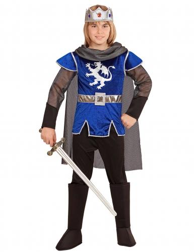 Déguisement roi chevalier bleu enfant