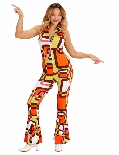d guisement combinaison groovy g om trique ann es 70 femme deguise toi achat de d guisements. Black Bedroom Furniture Sets. Home Design Ideas