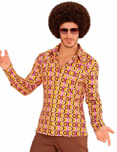 Chemise groovy disco années 70 homme
