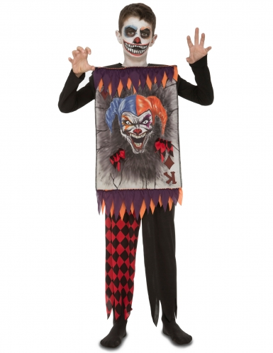 Déguisement carte clown terrifiant enfant Halloween
