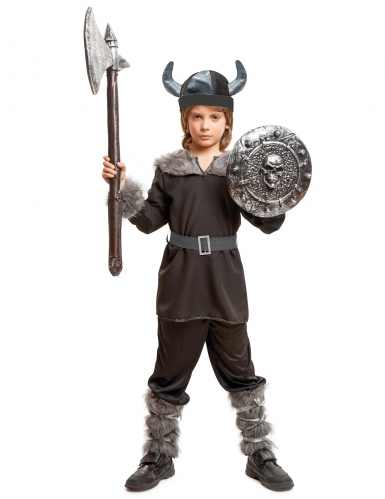 Déguisement viking noire garçon