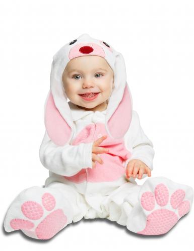 Déguisement petit lapin rose avec sucette luxe bébé