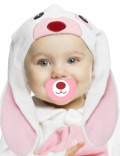 Déguisement petit lapin rose avec sucette luxe bébé-1