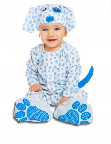 Déguisement petit chiot bleu avec sucette luxe bébé
