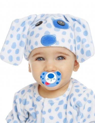 Déguisement petit chiot bleu avec sucette luxe bébé-1