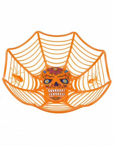 Saladier orange Dia de los muertos 26 cm