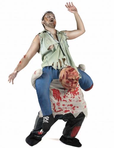 Déguisement porte-moi zombie adulte Halloween-1