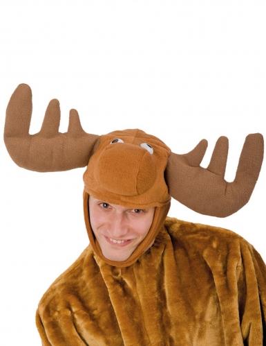 Chapeau renne en peluche adulte Noël