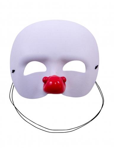 Demi-masque blanc clown enfant