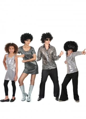 Déguisement famille disco argent