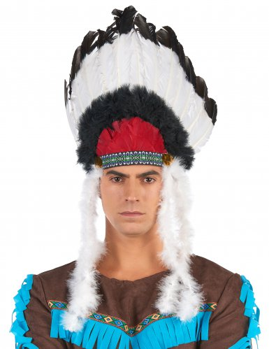 Coiffe indien avec plumes adulte-2