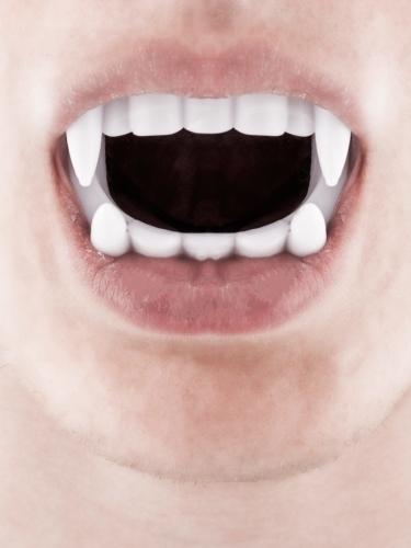 Pack déguisement vampire homme avec dents et faux sang Halloween-2