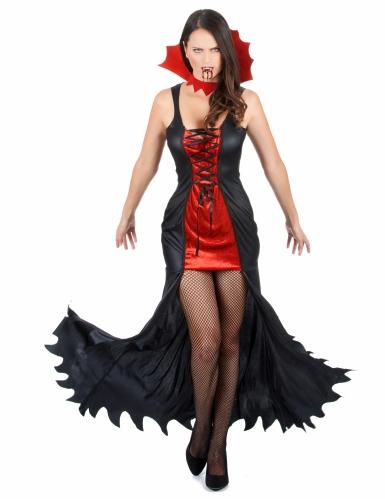 Pack déguisement et accessoires de vampire femme-1