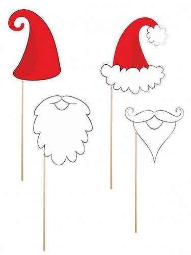 Kit photobooth 4 pièces Père Noël