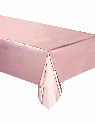 Nappe en plastique rose gold 137 x 274 cm