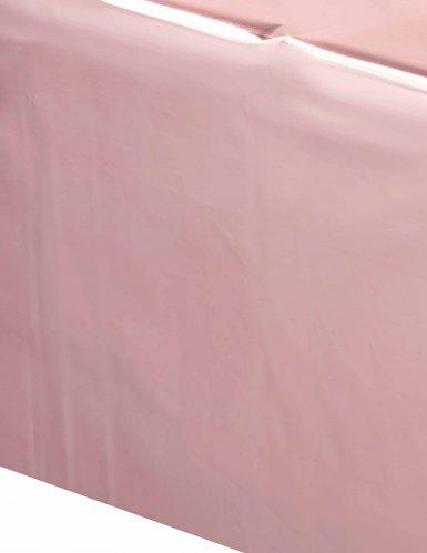 Nappe en plastique rose gold 137 x 274 cm-1