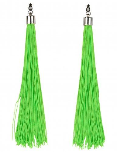 boucles d 39 oreilles franges vertes fluo adulte deguise toi achat de accessoires. Black Bedroom Furniture Sets. Home Design Ideas