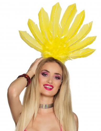 Coiffe brésilienne jaune femme