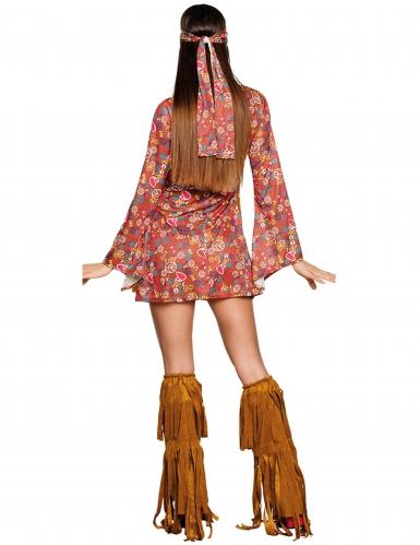 Déguisement hippie Peace à franges femme-1