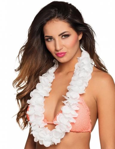 Collier Hawaï blanc luxe