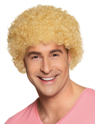 Perruque afro/clown blonde standard adulte