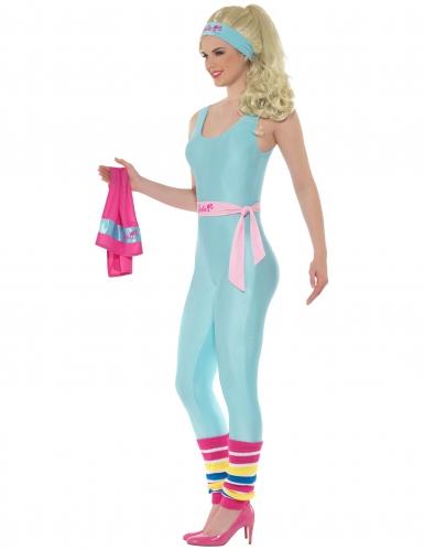 Déguisement combinaison gym bleue Barbie™ femme-1