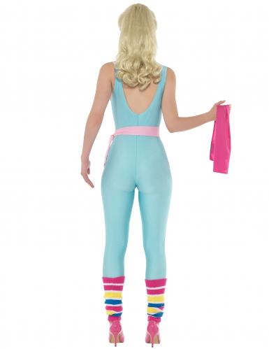 Déguisement combinaison gym bleue Barbie™ femme-2