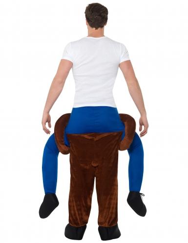 Déguisement homme à dos d'ours adulte-2