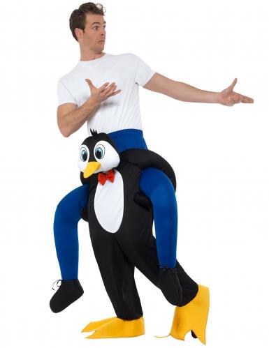 Déguisement homme à dos de pingouin adulte-1