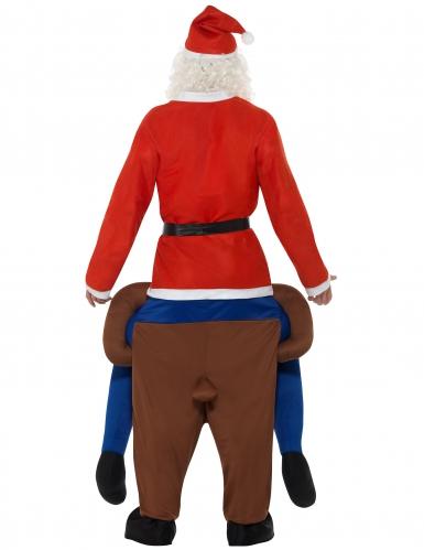 Déguisement Père Noël à dos de renne adulte-2