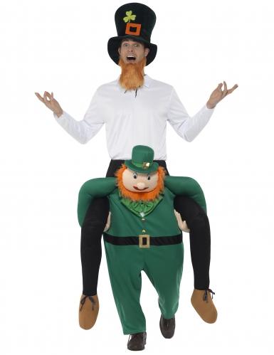 Déguisement homme à dos de leprechaun adulte Saint Patrick