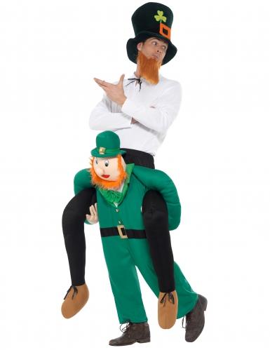 Déguisement homme à dos de leprechaun adulte Saint Patrick-1