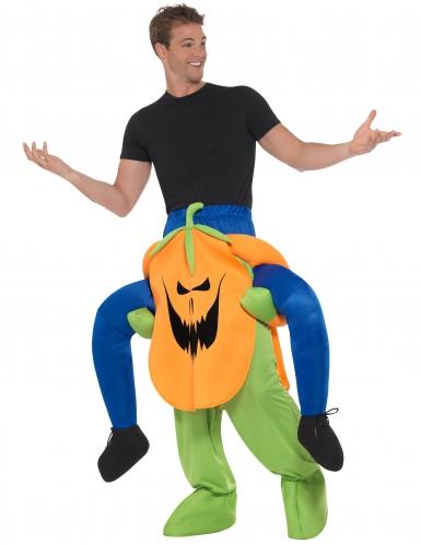 Déguisement homme à dos de citrouille effrayante adulte Halloween-1