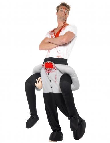 Déguisement homme à dos d'homme sans tête adulte Halloween-1