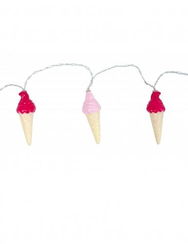 Guirlande lumineuse cornets de glace 160 x 10 x 3 cm