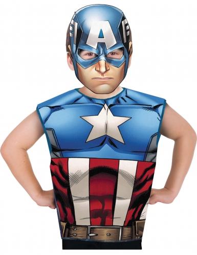 T-shirt et masque Captain America ™ enfant