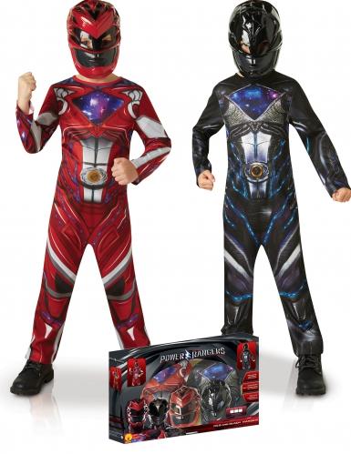 Coffret déguisements Power Rangers™ rouge et noir enfant