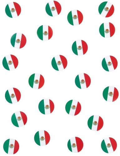 150 Confettis de table drapeaux Mexique