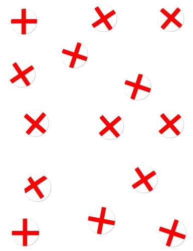 150 Confettis de table Drapeaux Angleterre