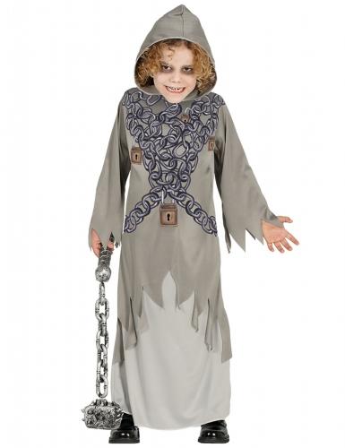 Déguisement fantôme enchaîné gris enfant Halloween