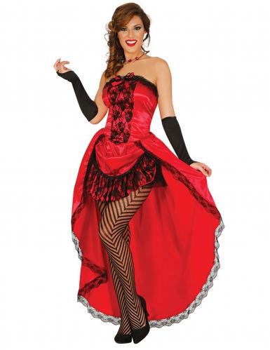 Déguisement miss burlesque rouge femme