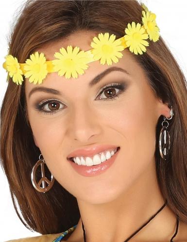Tour de tête fleurs jaunes adulte