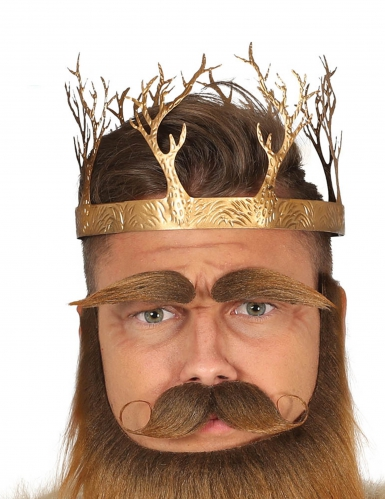 Couronne roi médiéval or adulte
