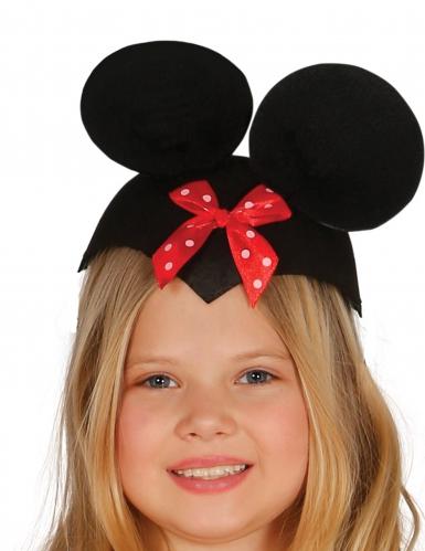 Chapeau souris avec nœud rouge rigolote enfant