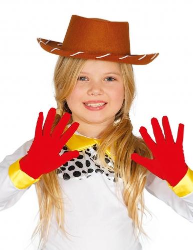 Gants courts rouges enfant