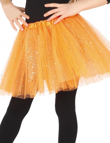 Tutu orange à paillettes fille