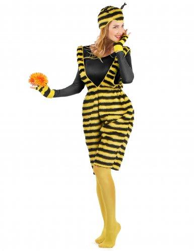 Déguisement salopette peluche abeille adulte-1